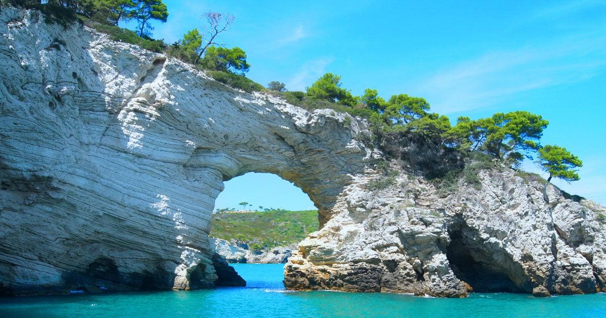 Parco nazionale del gargano vista mare