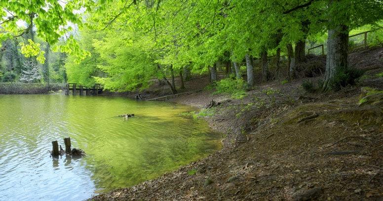 Parco nazionale del gargano lago e montagna
