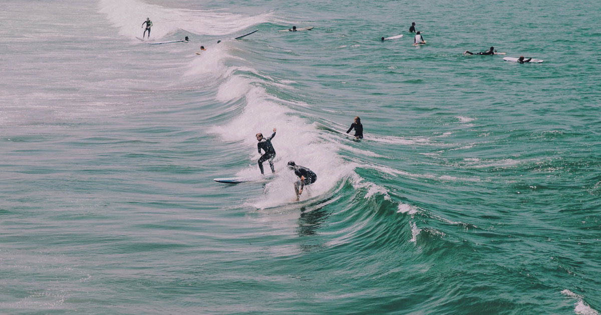Dove fare surf in Puglia, onde alte