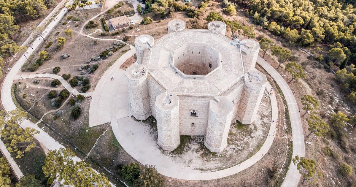 Castel del Monte, vista dal drone