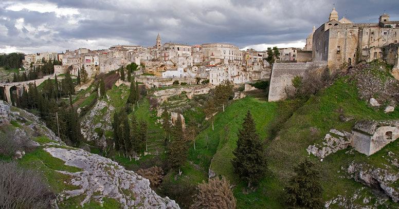 panoramica città di Gravina in Puglia