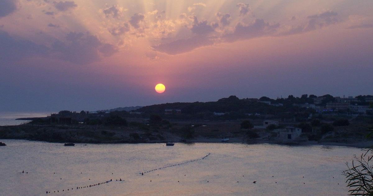 Marina di Pulsano al tramonto